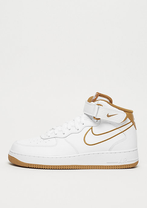 Mid 1 Leather Air Force Bronze '07 Whitemuted sQrxtdhC