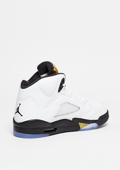 JORDAN Basketballschuh Air Jordan 5 Retro (GS) white/black/metallic gold coin