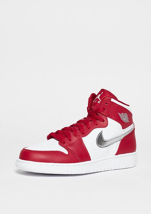 JORDAN Basketballschuh Air Jordan 1 Retro High BG gym red/metallic silver/white