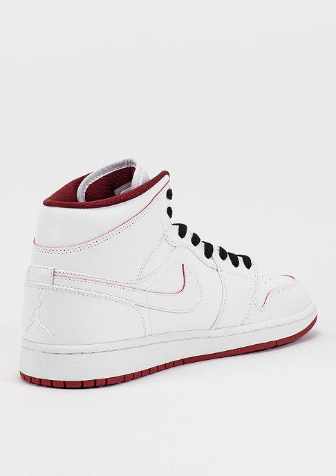 JORDAN Basketballschuh Air Jordan 1 Mid white/gym red/black
