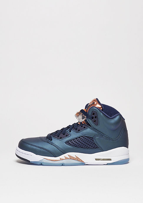 JORDAN Basketballschuh Air Jordan 5 Retro BG obsidian/obsidian/metallic red brown