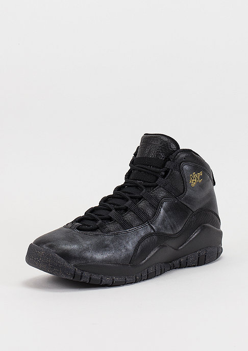 JORDAN Air Jordan 10 Retro BG black/black/dark grey/metallic gold