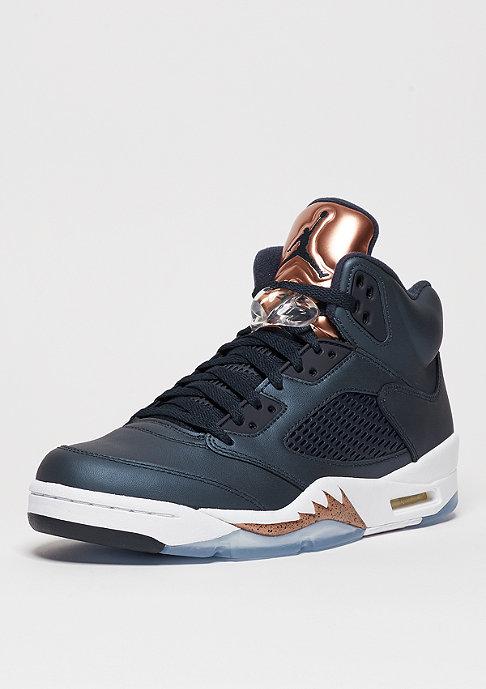 JORDAN Basketballschuh Air Jordan 5 Retro obdisian/white/metallic red brown