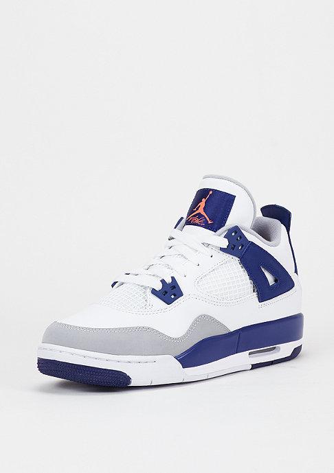 JORDAN Basketballschuh Air Jordan 4 Retro GG white/hyper orange/deep royal blue