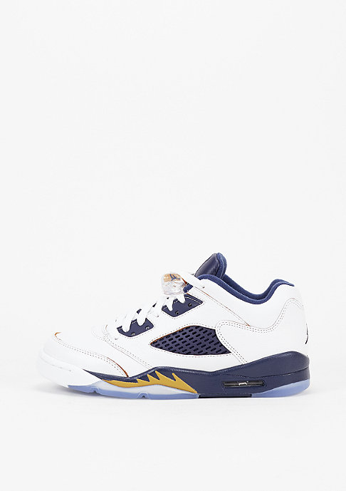 JORDAN Basketballschuh Air Jordan 5 Retro Low (GS) white/metallic gold/mid navy