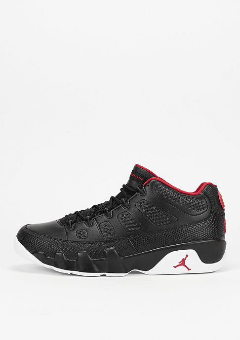 JORDAN Basketballschuh Air Jordan 9 Retro Low black/gym red/white