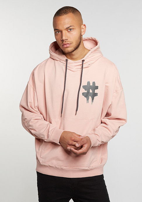 Been Trill Hooded-Sweatshirt Oversized rose