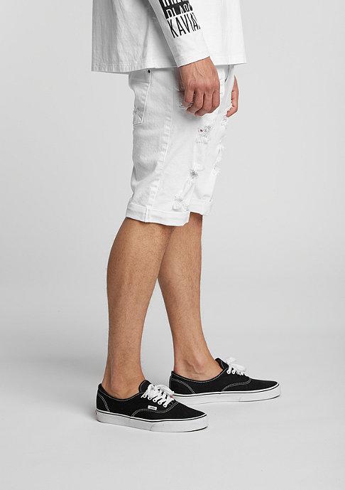 Black Kaviar Jeans-Short Gork white