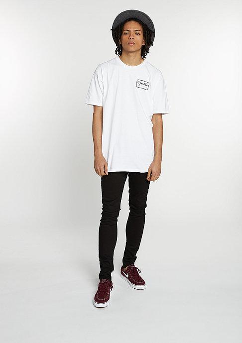 Brixton T-Shirt Grade white/black
