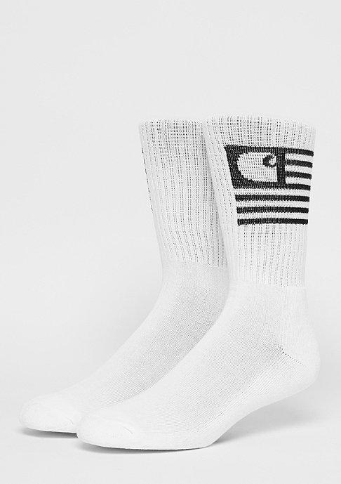 Carhartt WIP Sportsocke Stat Socks white/black