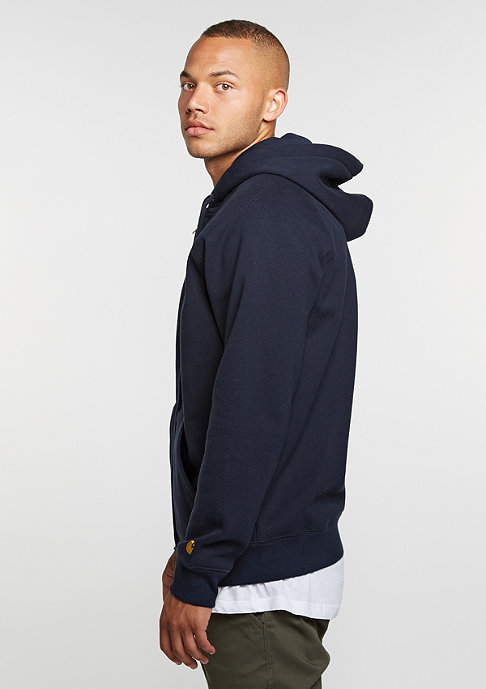 Carhartt WIP Hooded-Zipper Chase navy
