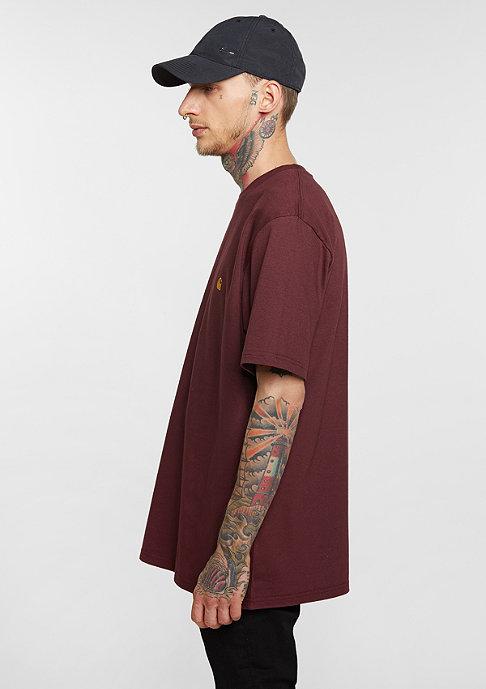 Carhartt WIP T-Shirt Chase chianti/gold