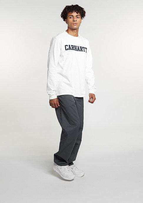 Carhartt WIP Longsleeve College white/navy