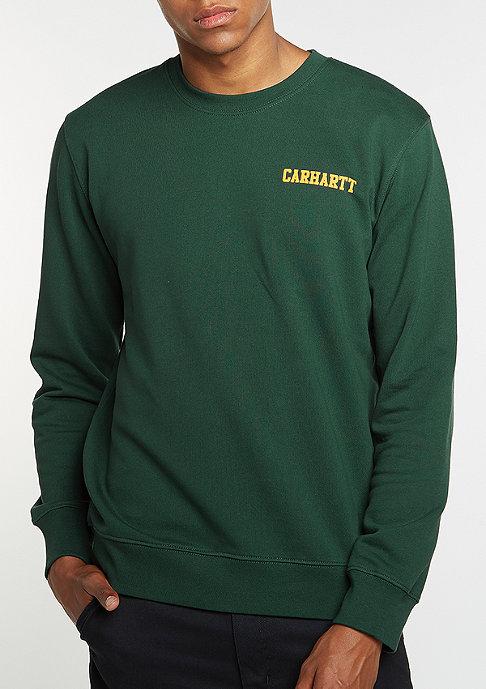Carhartt WIP Sweatshirt College Script conifer/quince