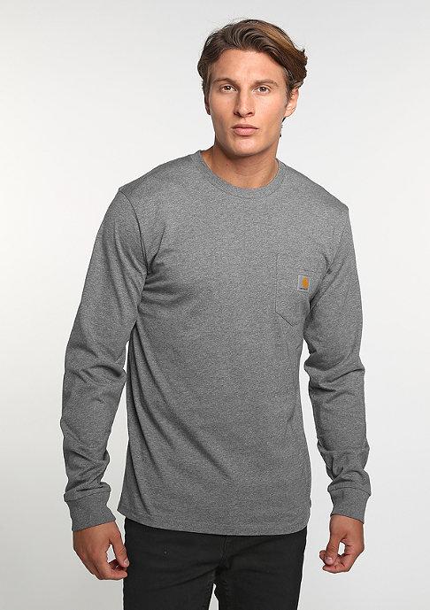 Carhartt WIP Longsleeve Pocket dark grey heather