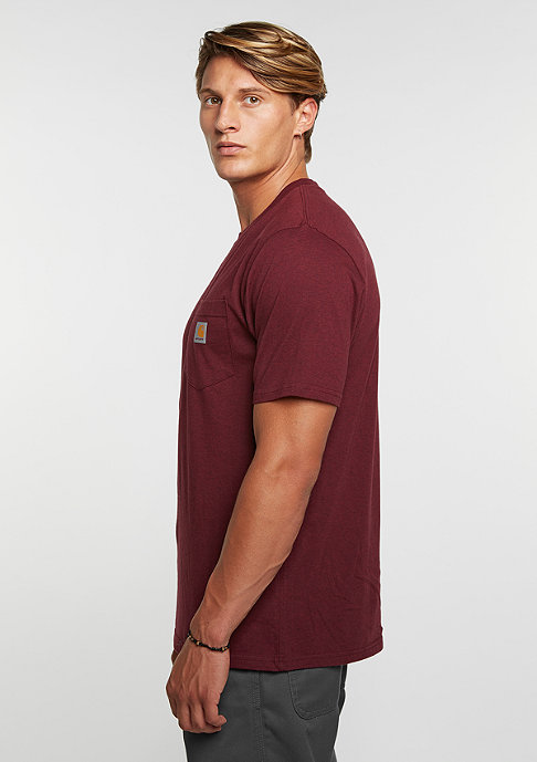 Carhartt WIP T-Shirt Pocket chianti heather