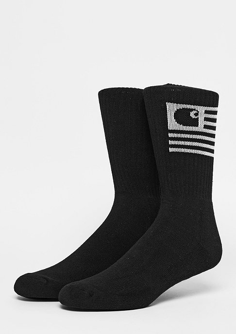Carhartt WIP Sportsocke Stat Socks black/white