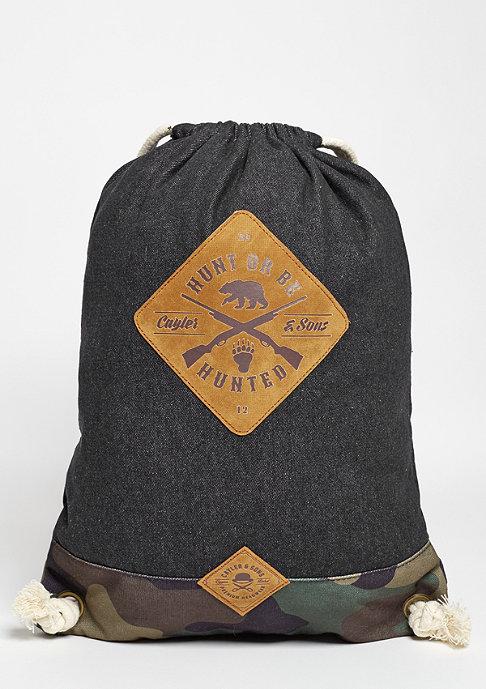 Cayler & Sons Turnbeutel CL Hunting Gym Bag dark denim/woodland
