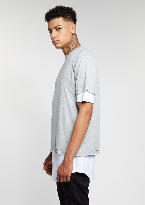 Cayler & Sons T-Shirt BL Deuces Long Layer grey heather/white