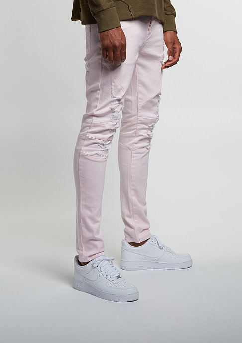Cayler & Sons Jeans Paneled Distressed Denim Pants light pink