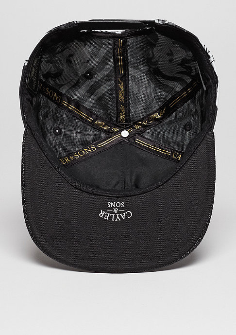 Cayler & Sons Snapback-Cap GLD Flagged black/white