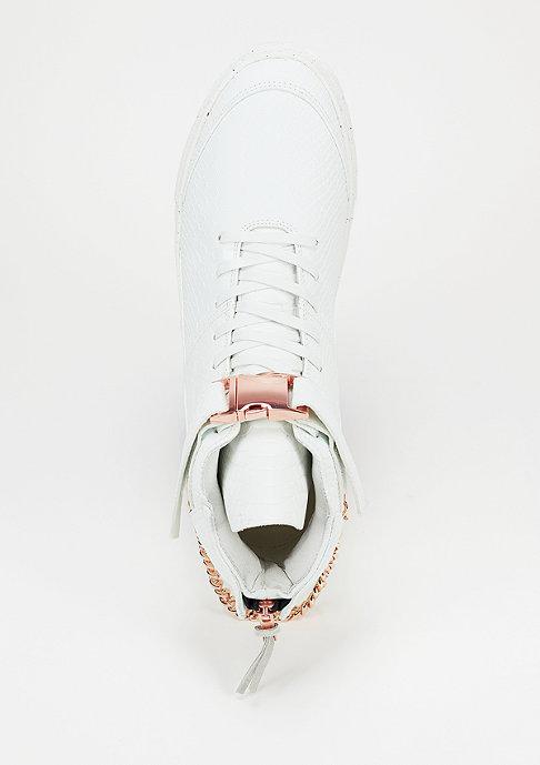 Cayler & Sons Schuh Hamachi white python/rose-gold