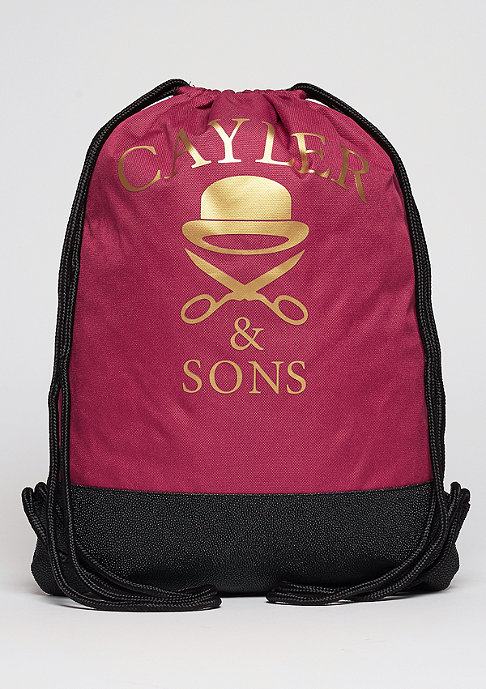 Cayler & Sons Turnbeutel WL Gymbag Paris Skyline maroon/mc