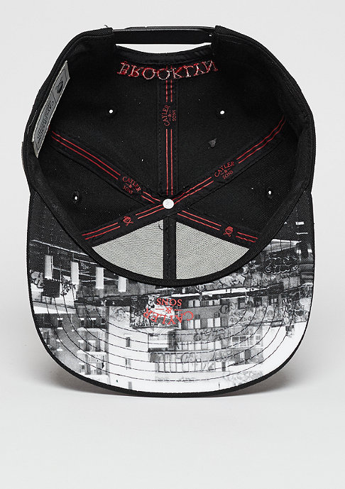 Cayler & Sons Snapback-Cap WL Brooklyn Classic black/white