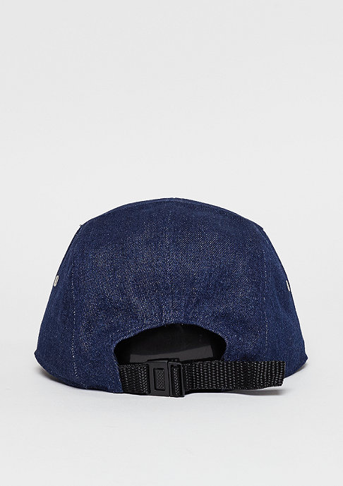 Cheap Monday 5-Panel-Cap CM badge rinsed blue