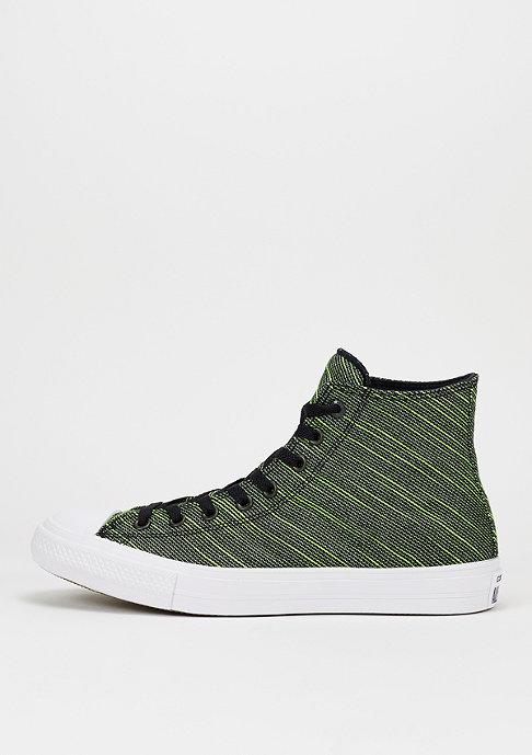 Converse Schuh CTAS II Knit Hi black/volt green/white