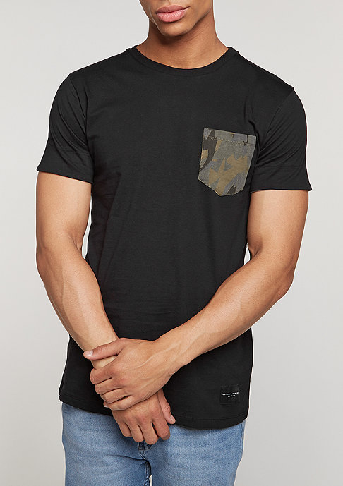 Criminal Damage T-Shirt Army Pocket black/multi