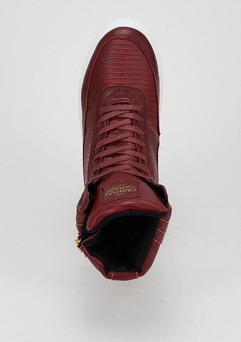 Criminal Damage Schuh Catana burgundy