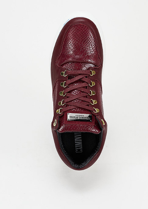 Criminal Damage Schuh Detroit Lace Up red