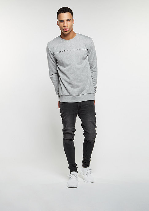 Criminal Damage Sweatshirt Gala grey