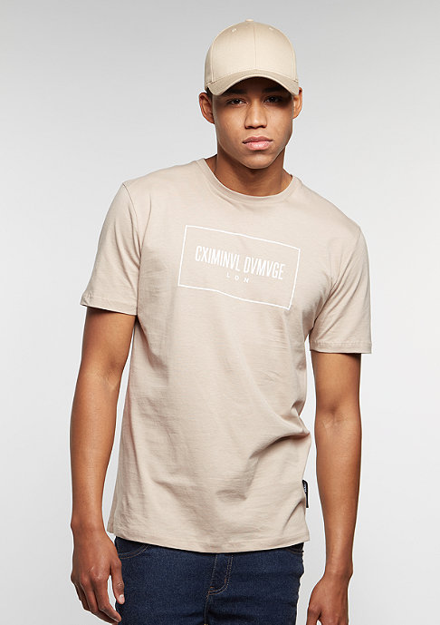 Criminal Damage T-Shirt November nude/white