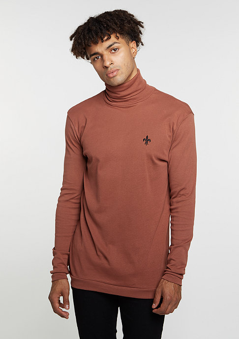 Criminal Damage Longsleeve Polo Neck Fleur tobacco/tobacco