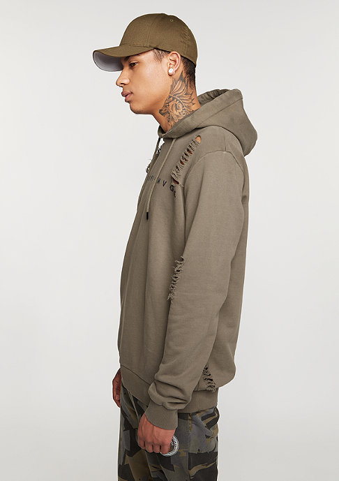 Criminal Damage Hooded-Sweatshirt Shoreditch mushroom/brown
