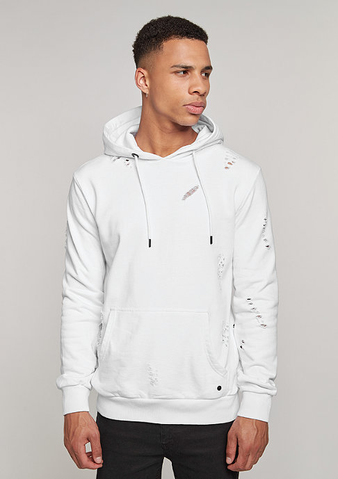 Criminal Damage Hooded-Sweatshirt Shoreditch white