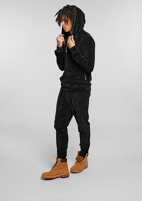 Criminal Damage Hooded-Sweatshirt Velour black/gold