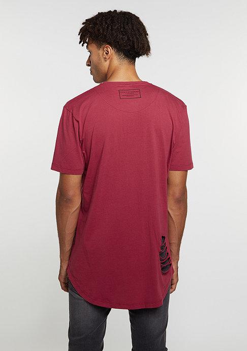 Criminal Damage T-Shirt Shoreditch dark/ruby