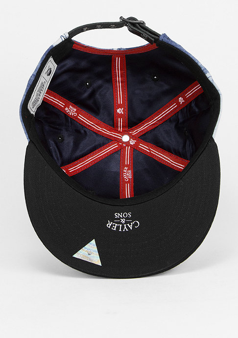Cayler & Sons Strapback-Cap New Money a.denim/s.black/red