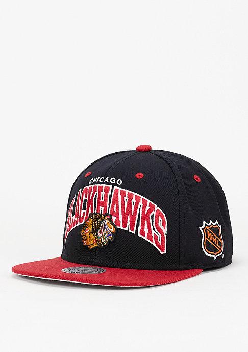 Mitchell & Ness Snapback-Cap Team Arch NHL Chicago Blackhawks black