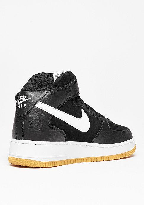 NIKE Basketballschuh Air Force 1 Mid 07 black/white/gum med brown
