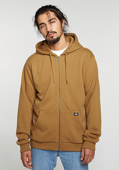Dickies Hooded-Zipper Kingsley brown duck