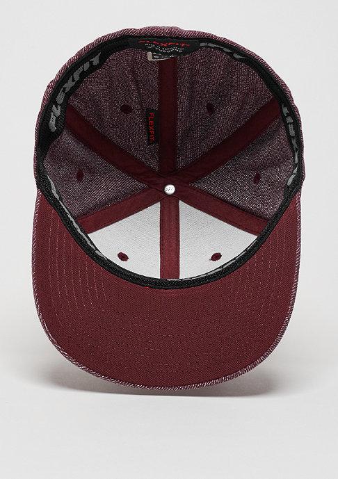 Flexfit Baseball-Cap Melange burgundy