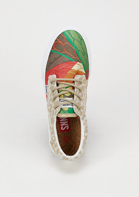 Djinn's Schuh Nice Crazy Pattern red/leopard