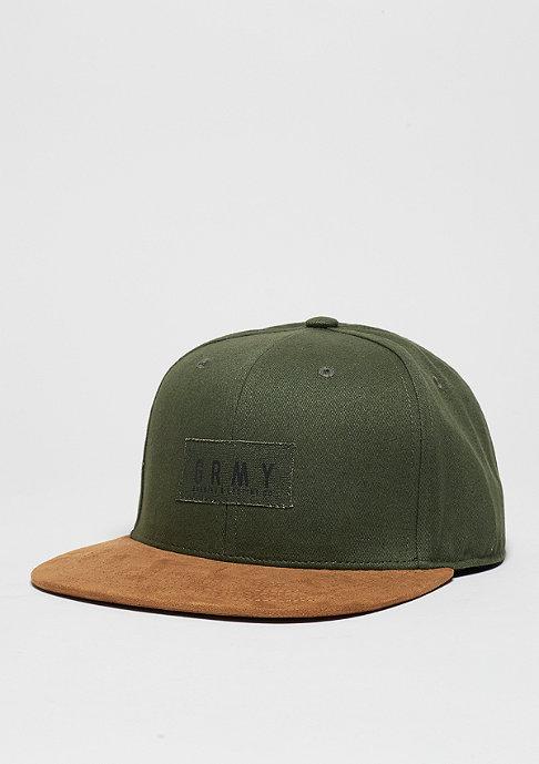 Grimey Strapback-Cap Bowels Of The D green