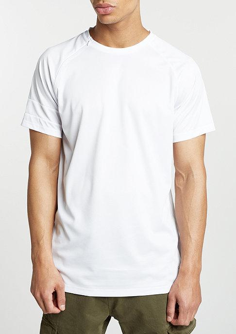 King Apparel T-Shirt Vent Zip Longline white