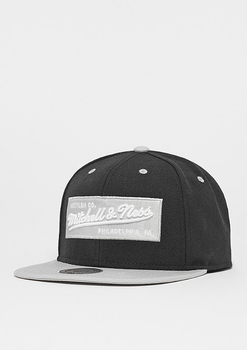 Mitchell & Ness Snapback-Cap Box Logo black/grey