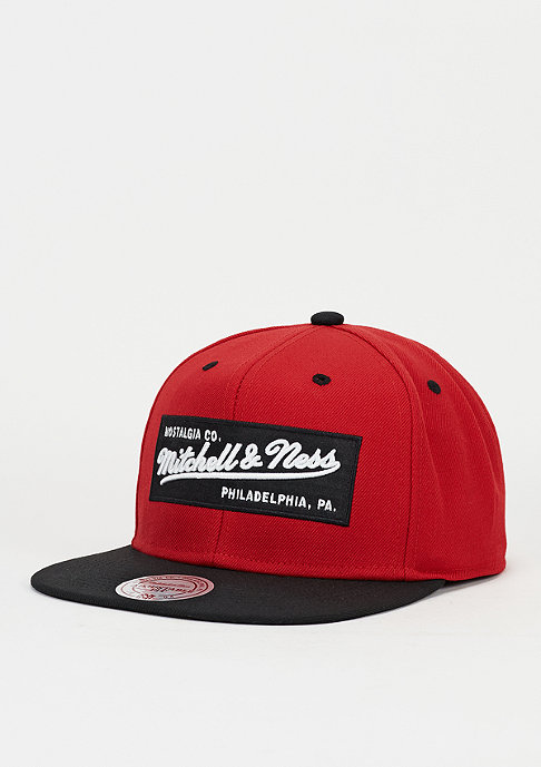 Mitchell & Ness Snapback-Cap Box Logo red/black